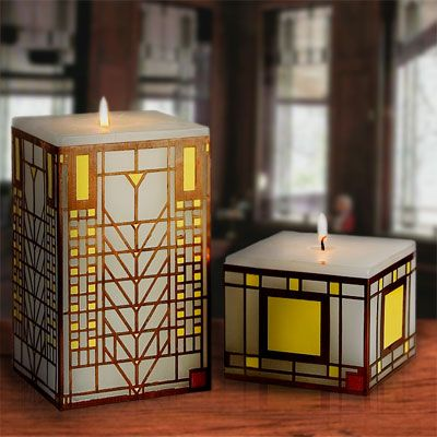 Frank Lloyd Wright Candles By Californiacandle