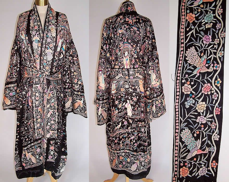 King and Queen Embroidered White Railroad Robe - Free Shipping On Orders  Over $45 - Overstock.com - 19944872