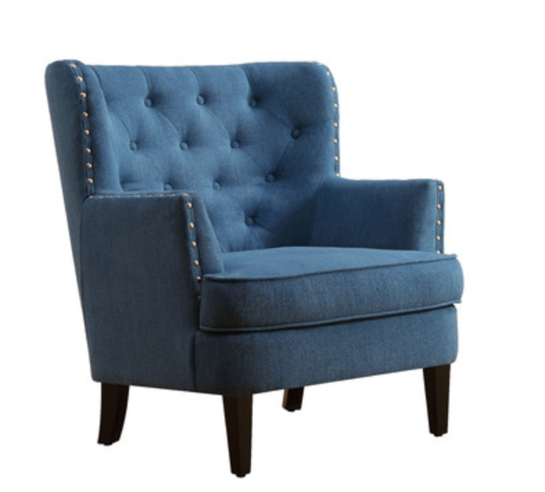 Best Modern Farmhouse Home Tour Blue Accent Chairs Wingback 640 x 480