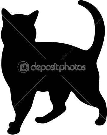 Cat Silhouett Image Vectorielle Tallisman C 2309155 Katzen Silhouette Katzen Quilt Katze Applikation