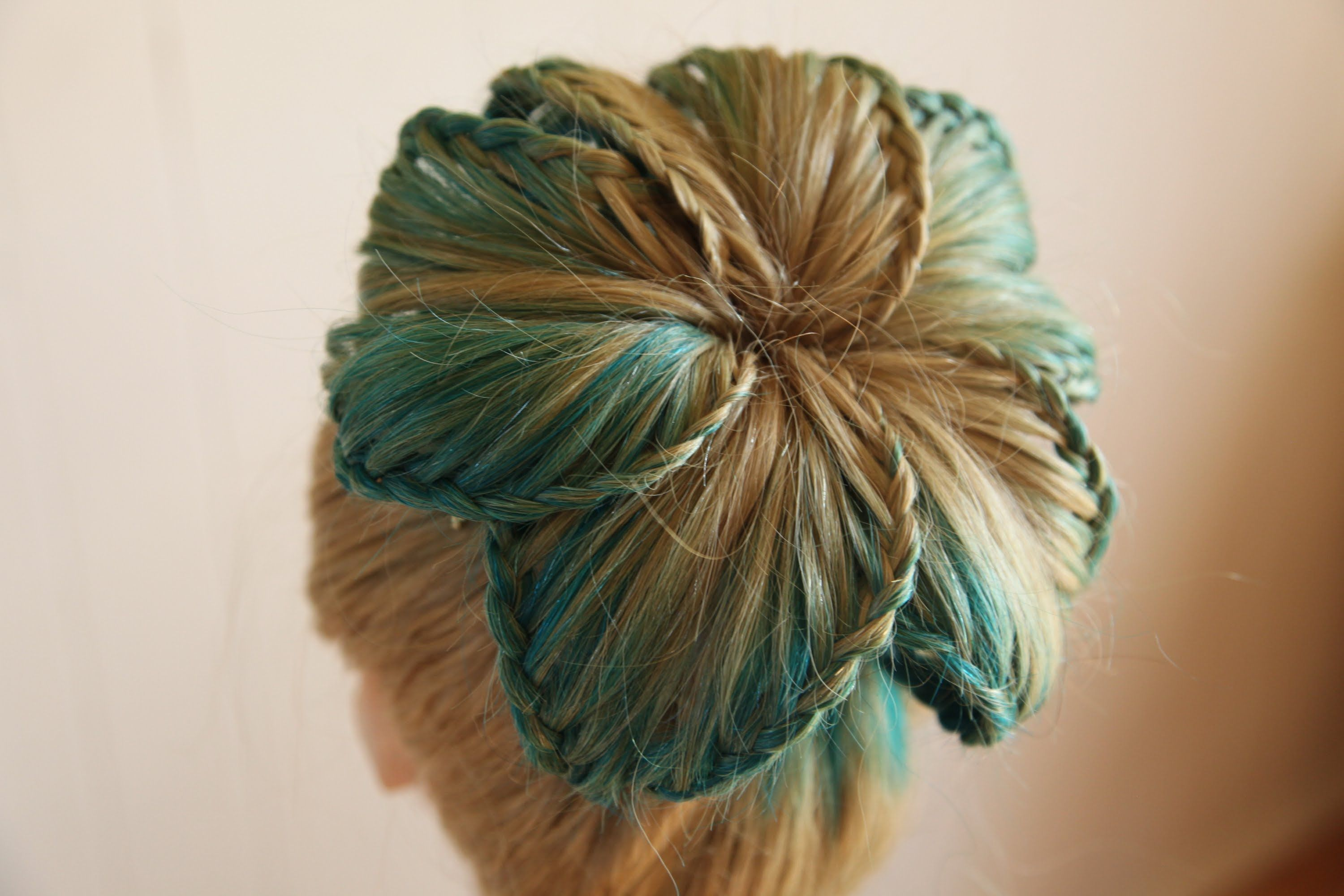 Flower Braided Bun Tutorial #braidedbuns