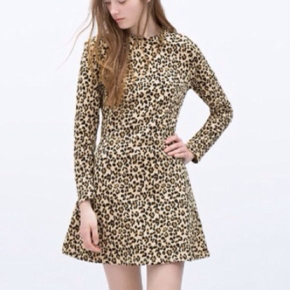 New Zara Leopard Dress Cheetah Print Dress Clothes Design Dresses