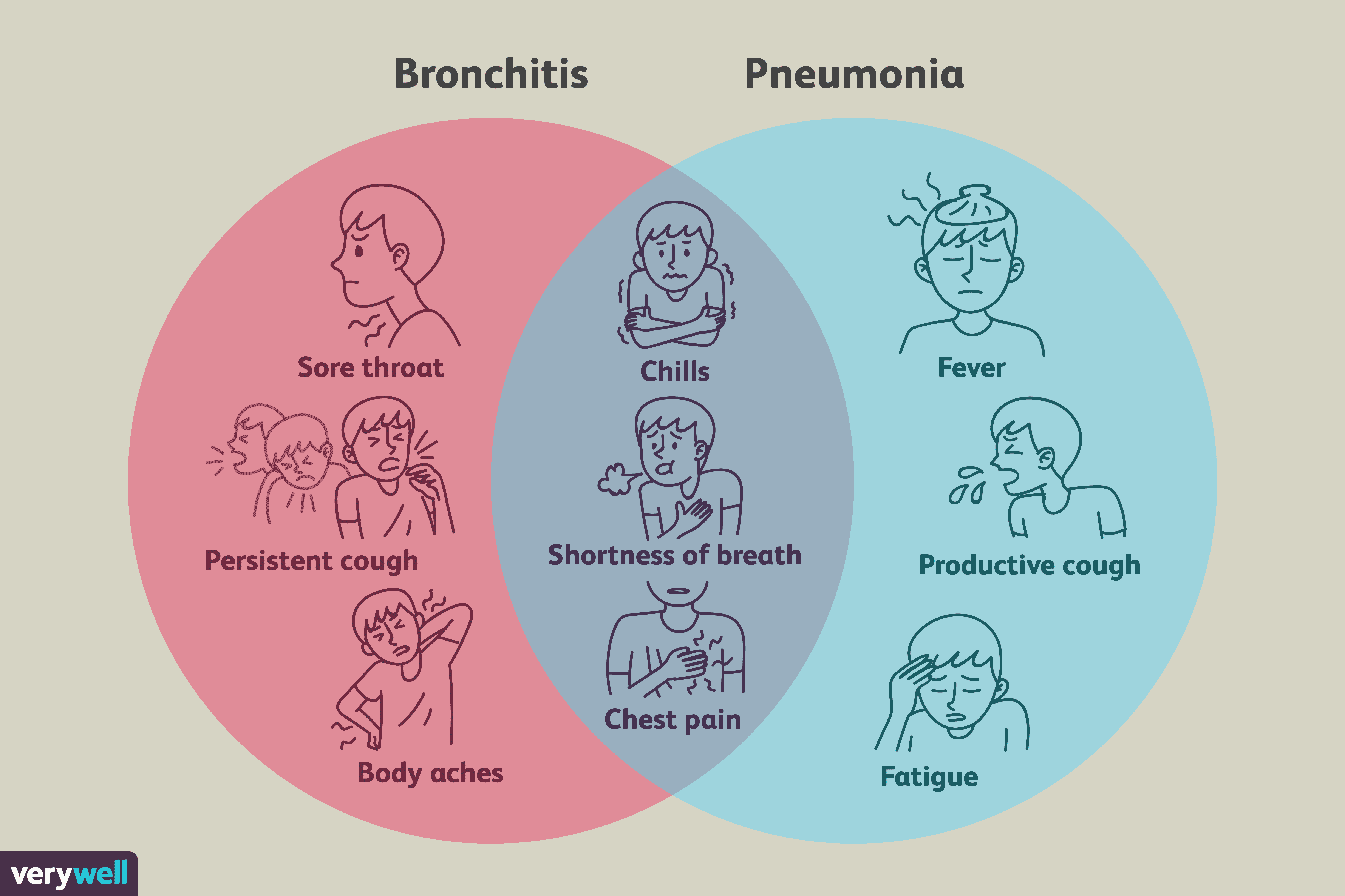 hight resolution of do you know the differences between pneumonia and bronchitis both cause coughs but they are very different illnesses