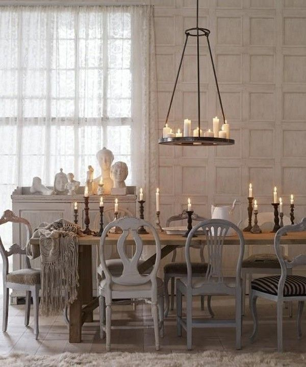 Candle Chandeliers Over Dining Tables Design Bordlampe Vegg