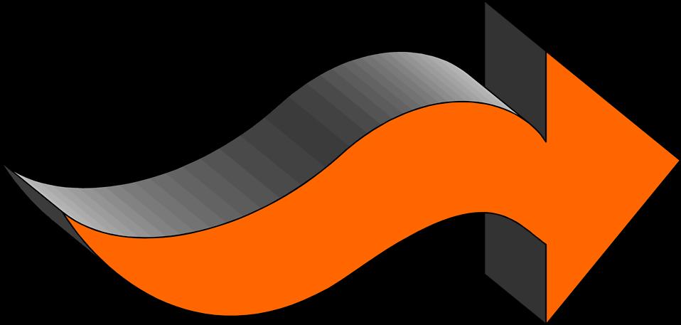 Orange Arrow Right Png