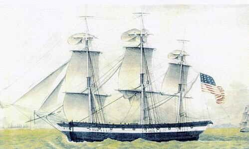 """""""Friendship of Salem"""", built 1796-97 by Enos Briggs, 342 tons."""