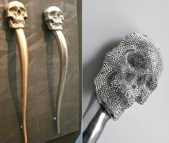 Skull door handles Thats my style Pinterest Door handles