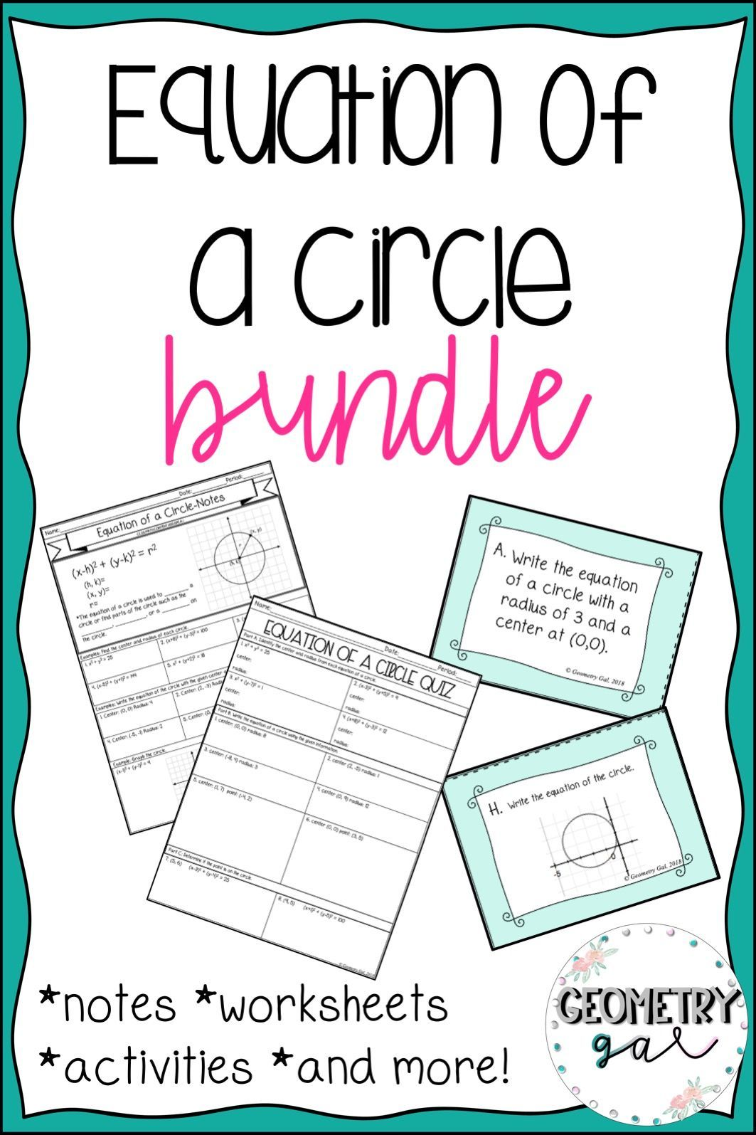Equation Of A Circle Bundle