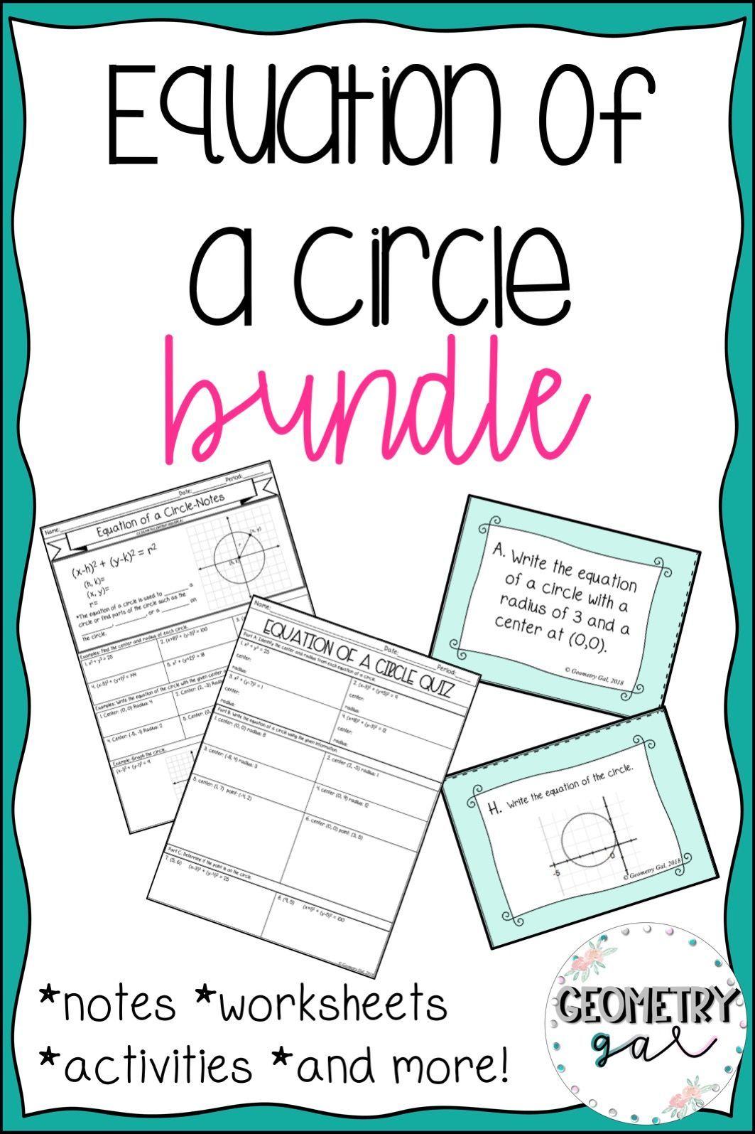 Equation Of A Circle Bundle
