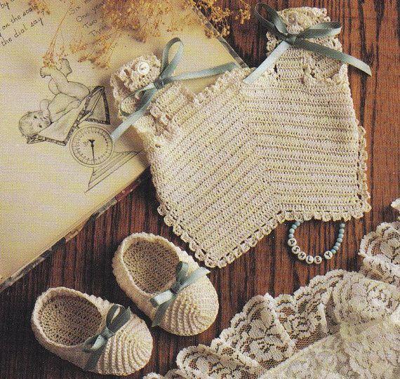 Bibs and Booties Crochet Patterns 6 Sets   Crochet Patterns ...
