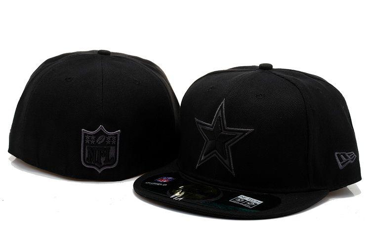 quite nice 26e96 722eb Dallas Cowboys NFL New Era Fitted Hat Black 001