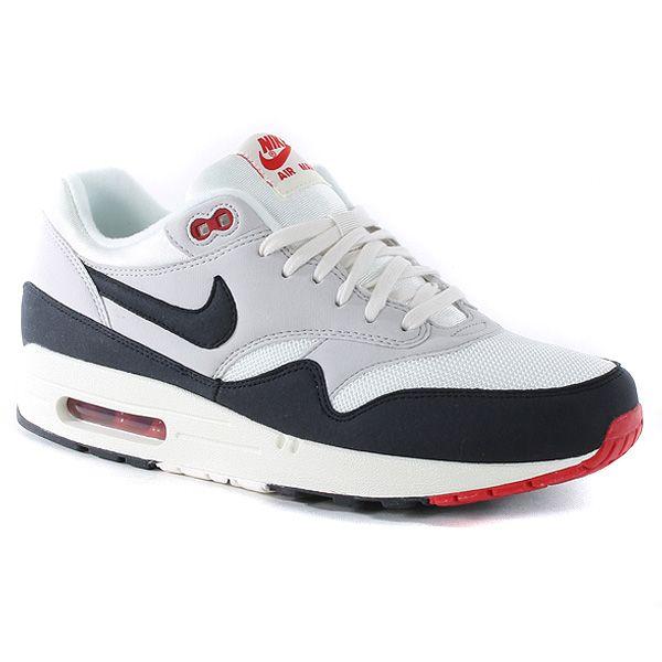 nike roshe run blanche - Nike 2013 AIR MAX1 OG Mens Vintage Sail Red Retro Running Shoes ...