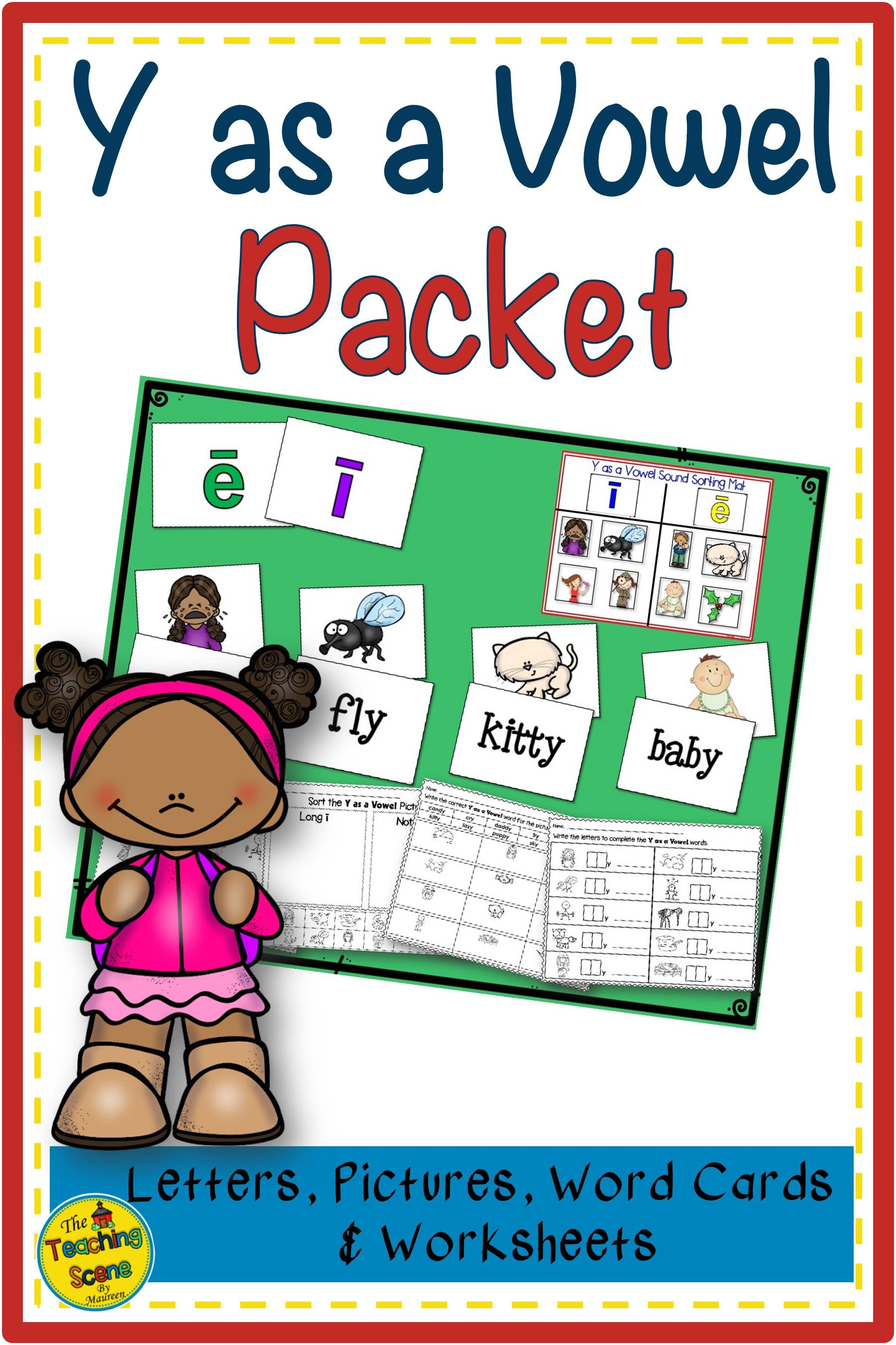 Y As A Vowel Packet Letters Pictures Words Amp Worksheets
