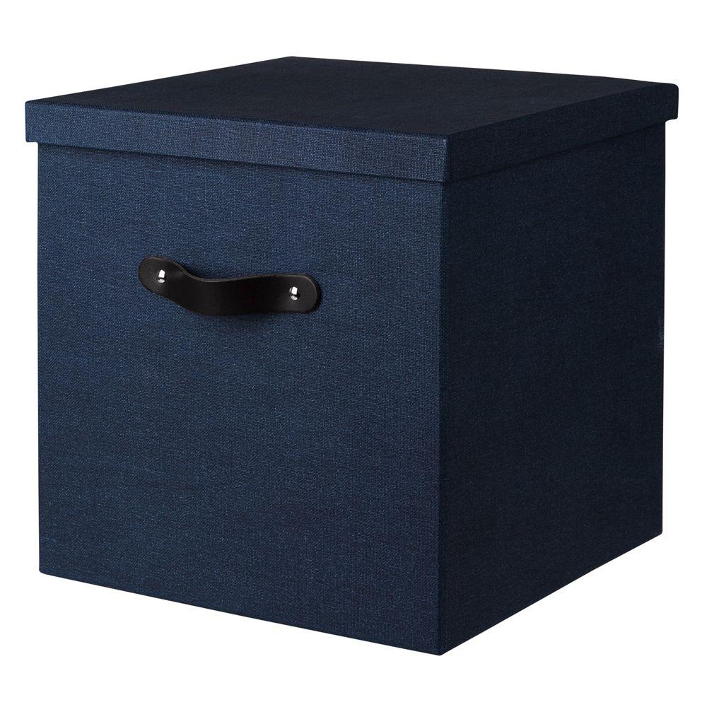 Box Canvas hög Blå vikbar