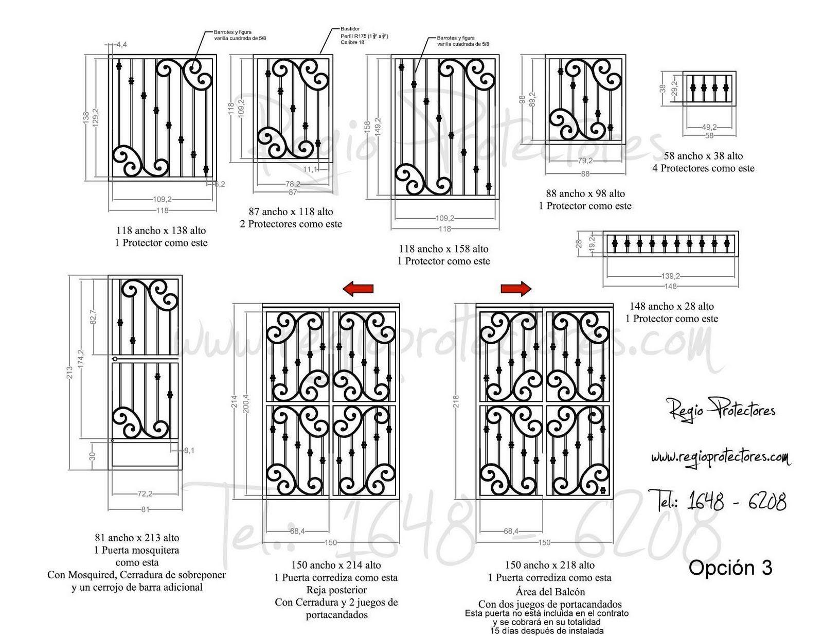Protectores para ventana de hierro forjado fracc for Portones de entrada principal