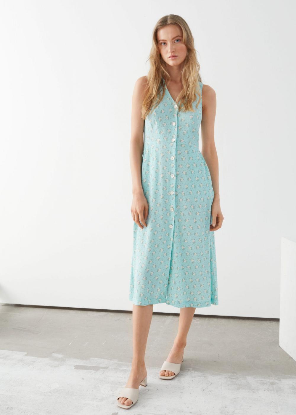 Other Stories Sleeveless Button Up Midi Dress We Select Dresses Midi Dress Trending Dresses Midi Dress Casual [ 1399 x 1000 Pixel ]