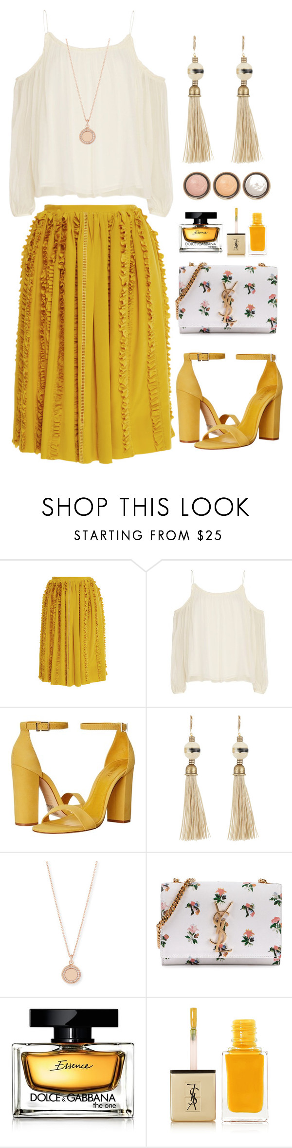 """""""Без названия #167"""" by annapogosyan ❤ liked on Polyvore featuring Rochas, Elizabeth and James, Schutz, Lanvin, Astley Clarke, Yves Saint Laurent, Dolce&Gabbana and By Terry"""