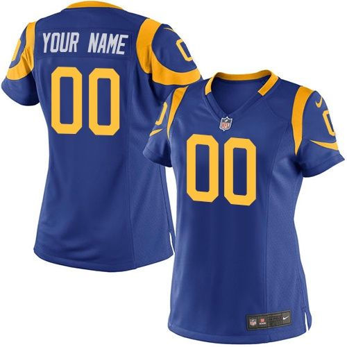 Women's Nike Los Angeles Rams Customized Limited Royal Blue Alternate NFL Jersey