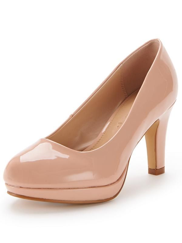Matilda Extra Wide Fit Platform Court Shoes - Nude | Other, Fit ...