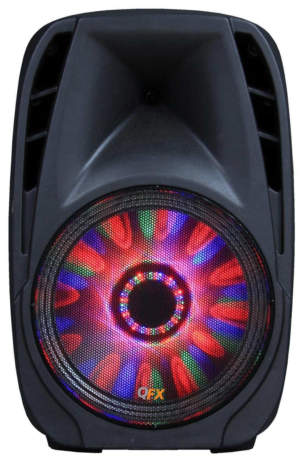 Moonlight Speakers qfx pbx-71100btl portable bluetooth party speaker. fm tuner with