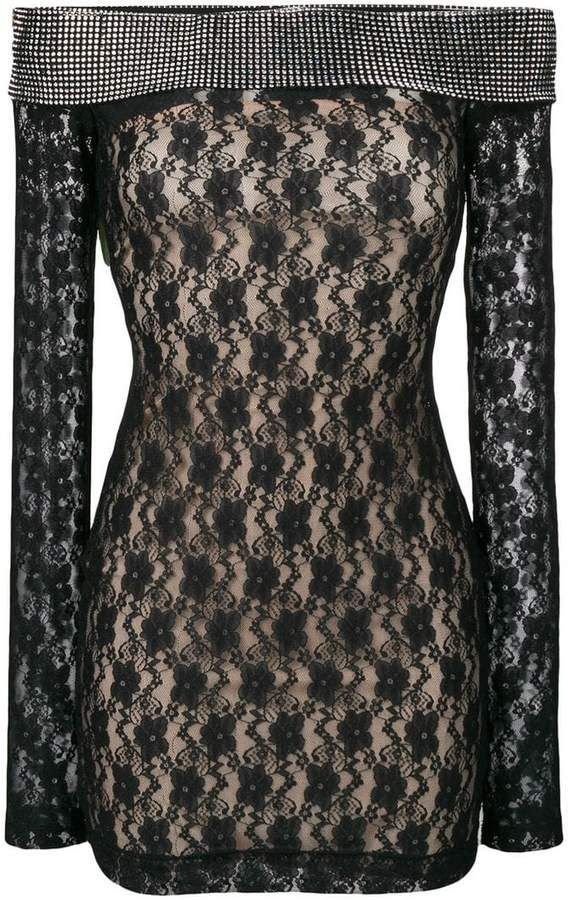 148c2c55 Christopher Kane mini crystal mesh dress in 2019 | Products | Mesh ...