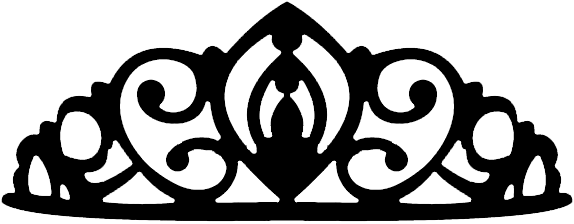 Transparent Queen Crown Tumblr Princess Crown Clipart Black And White 574x224 Png Download Crown Tumblr Crown Png Princess Crown