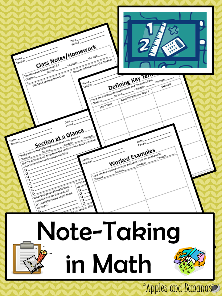 Math note taking templates before and during class math class math notebooks fandeluxe Image collections