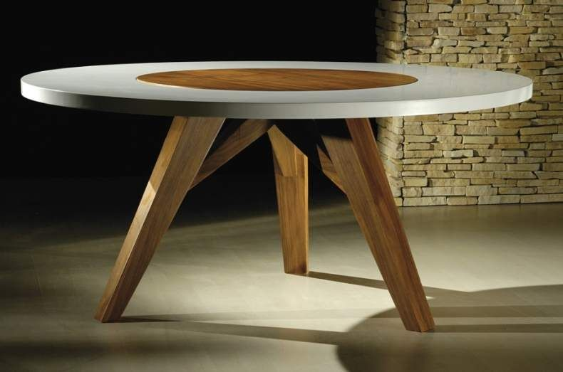 Decoração de sala de jantar com mesa redonda Olhar Moderno mesas
