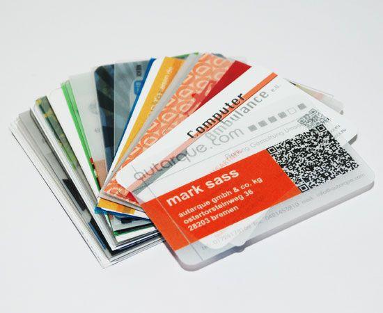 plastik visitenkarten pvc