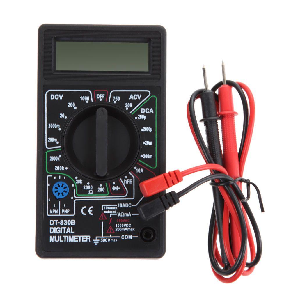 Digital Multimeter AC/DC Ammeter Voltmeter Resistance Tester DT830B ...
