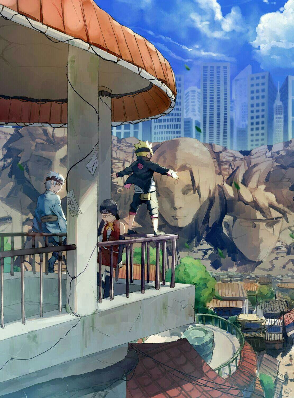Boruto, Sarada y Mitsuki