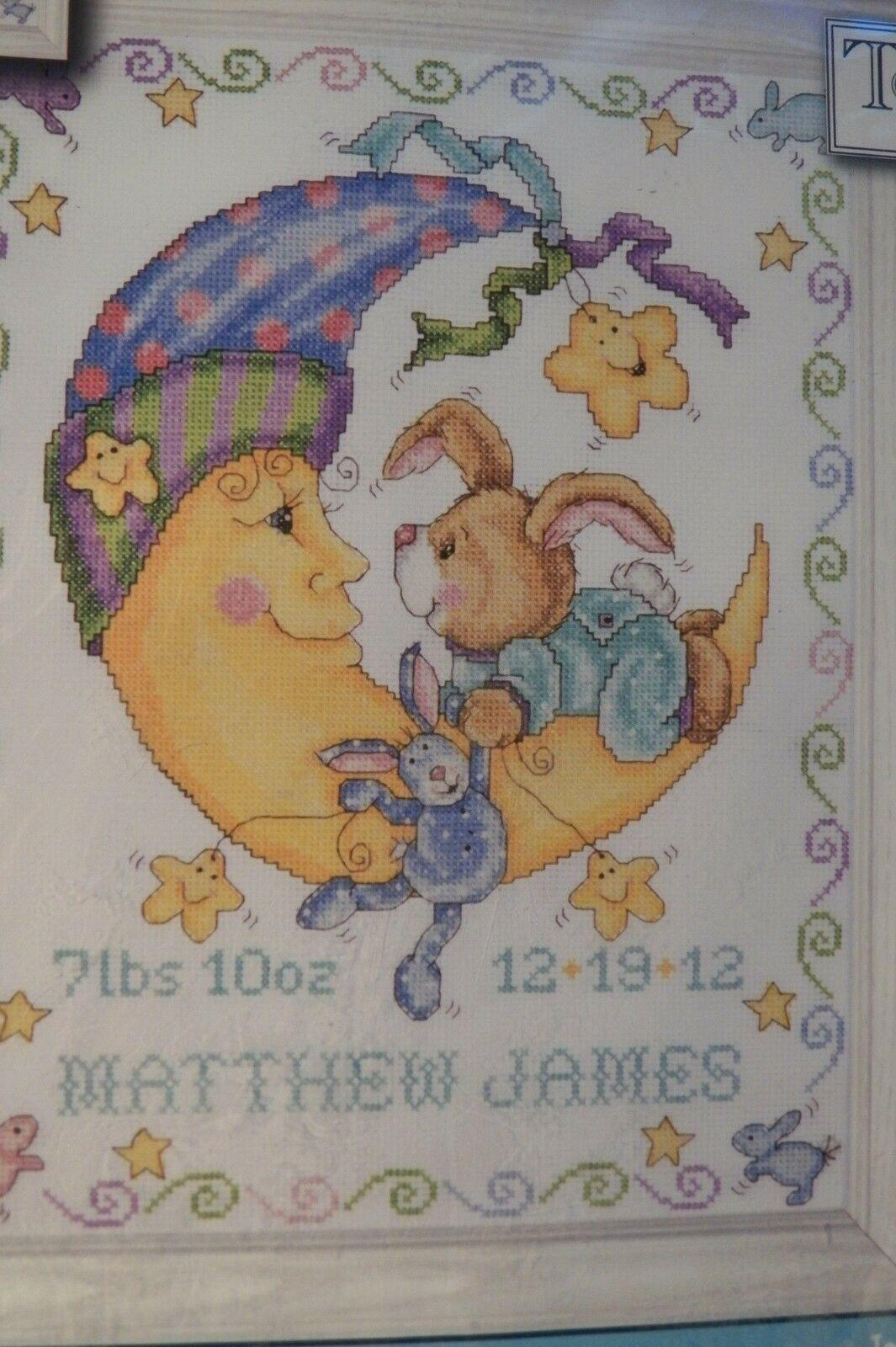 "Tobin Counted Cross Stitch Kit 11/""X14/""-Giraffe Birth Record 14 Count T21733"