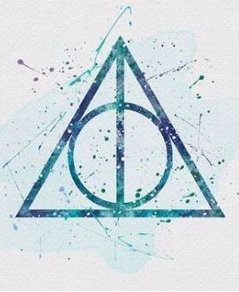 Pin By Caia Wells On Aquarelle Hp Harry Potter Watercolor Harry Potter Art Deathly Hallows