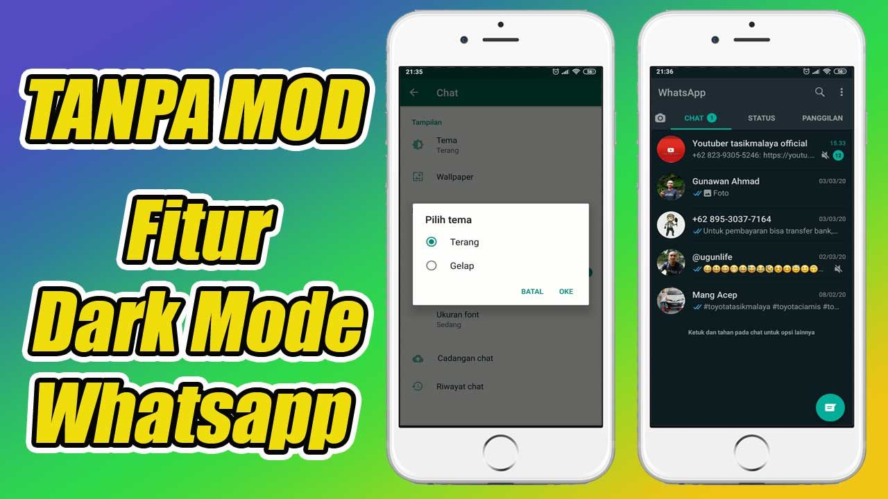 Fitur Dark Mode Resmi Whatsapp 2020 In 2020 Dark Tutorial Weather