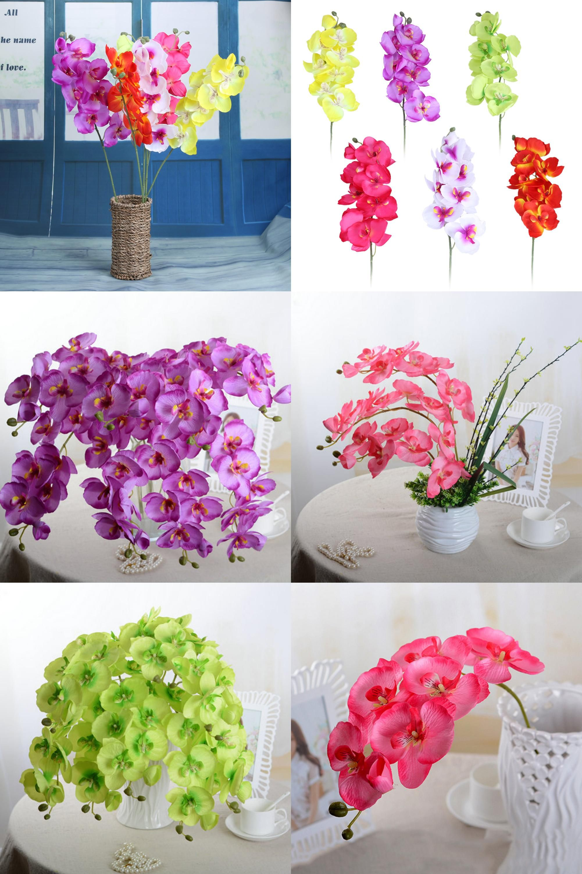 Visit To Buy 6 Colors Fashion Diy Artificial Moth Orchid
