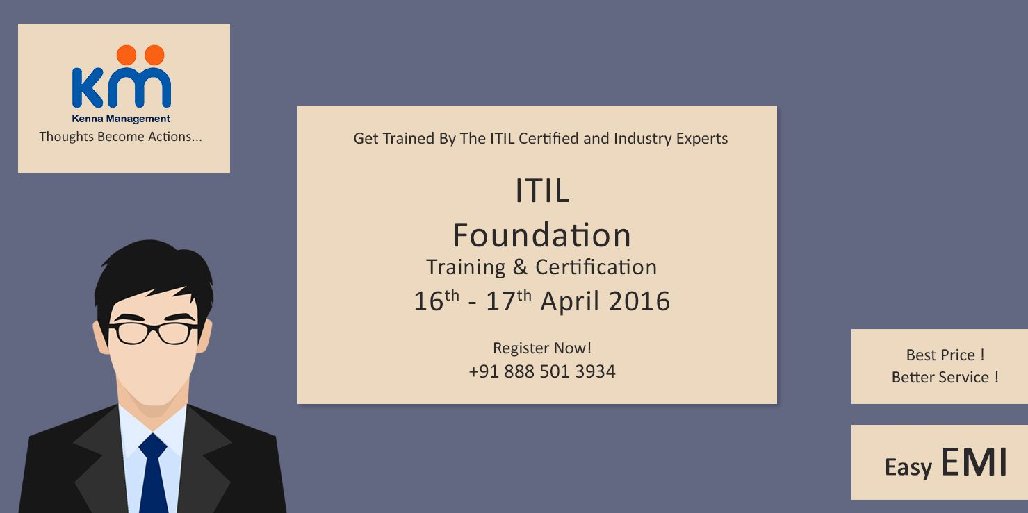 Get Trained By The Itil Certified And Industry Experts Itil