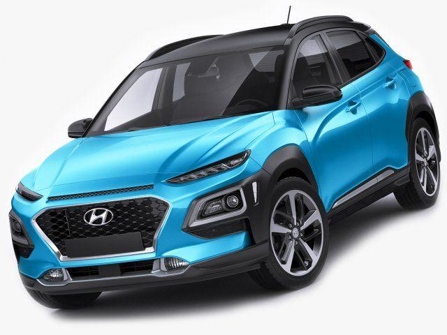 Hyundai Kona 2018 3D Model  max  c4d  obj  3ds  fbx  lwo  stl