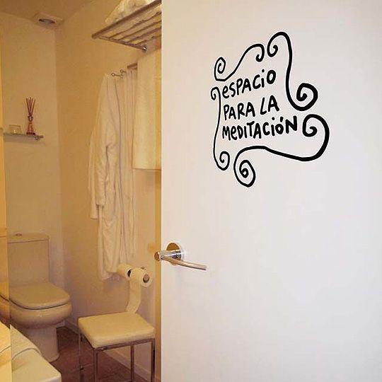 Psicoanálisis en el WC | Vinilos para baños, Carteles de ...