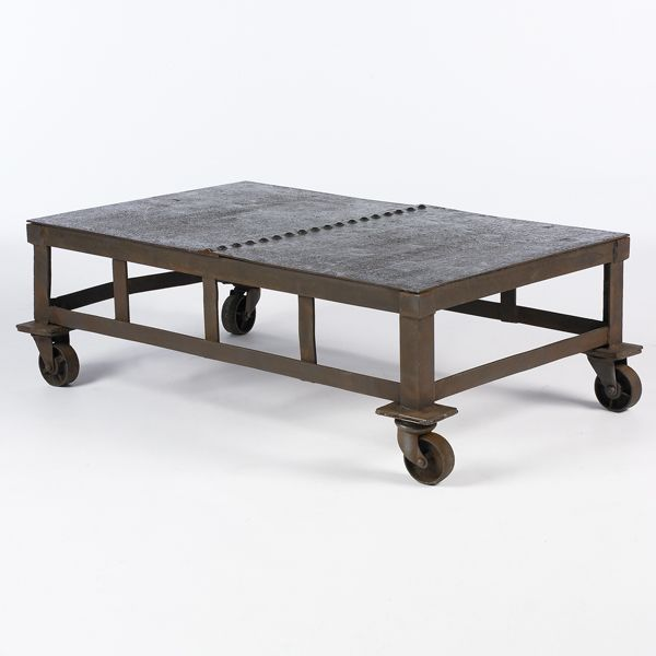 Metal Coffee Table On Wheels South Of Market