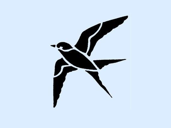 Oiseau en vol au pochoir 4x4 7 pochoirs pinterest - Dessin oiseau en vol ...