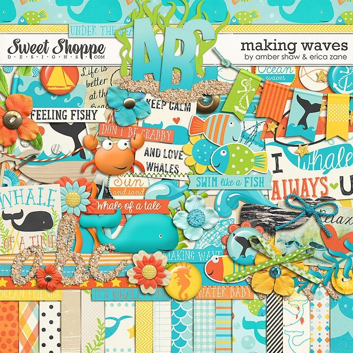 Making Waves by Amber Shaw & Erica Zane- love some of the word art in this kit