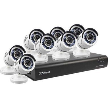 Be Protected See Every Detail In Hd With The Swann Swdvk864004us Swann S State Of The Art Expan Bullet Camera Digital Video Recorder Wireless Cctv Camera