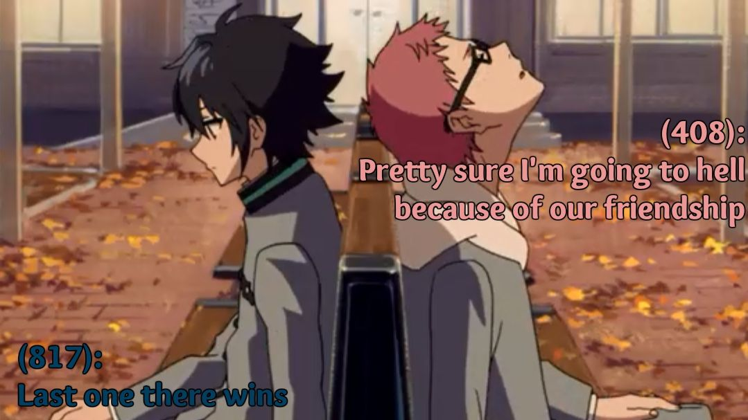 Owari no seraph-Seraph of the end, Yuu & Kimizuki Basically every friendship ever