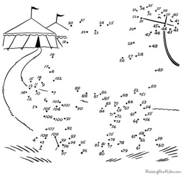 Fun Dot To Dot Worksheets : Fun and free printable kids activities