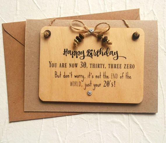 30th Personalised Birthday Card Funny For