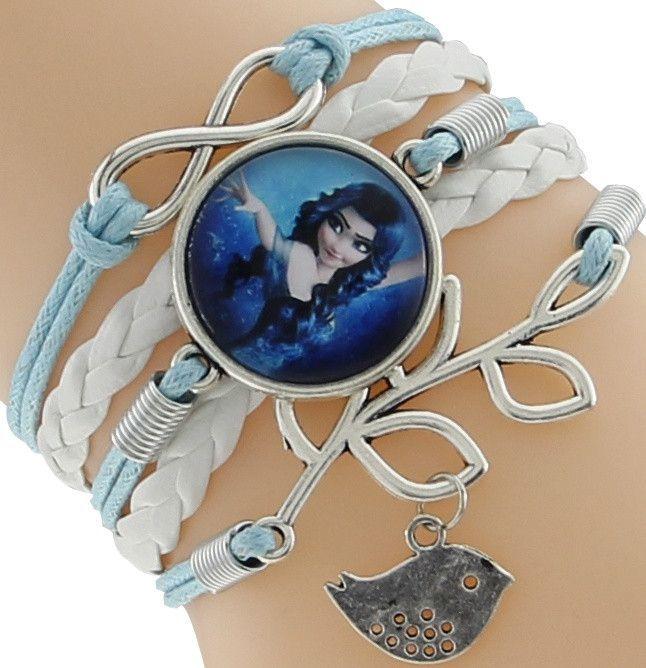 Artistic look Disney Elsa Snow Queen Princess Let it Go Braid Leather Bracelet Wristband Girl toy Weaved