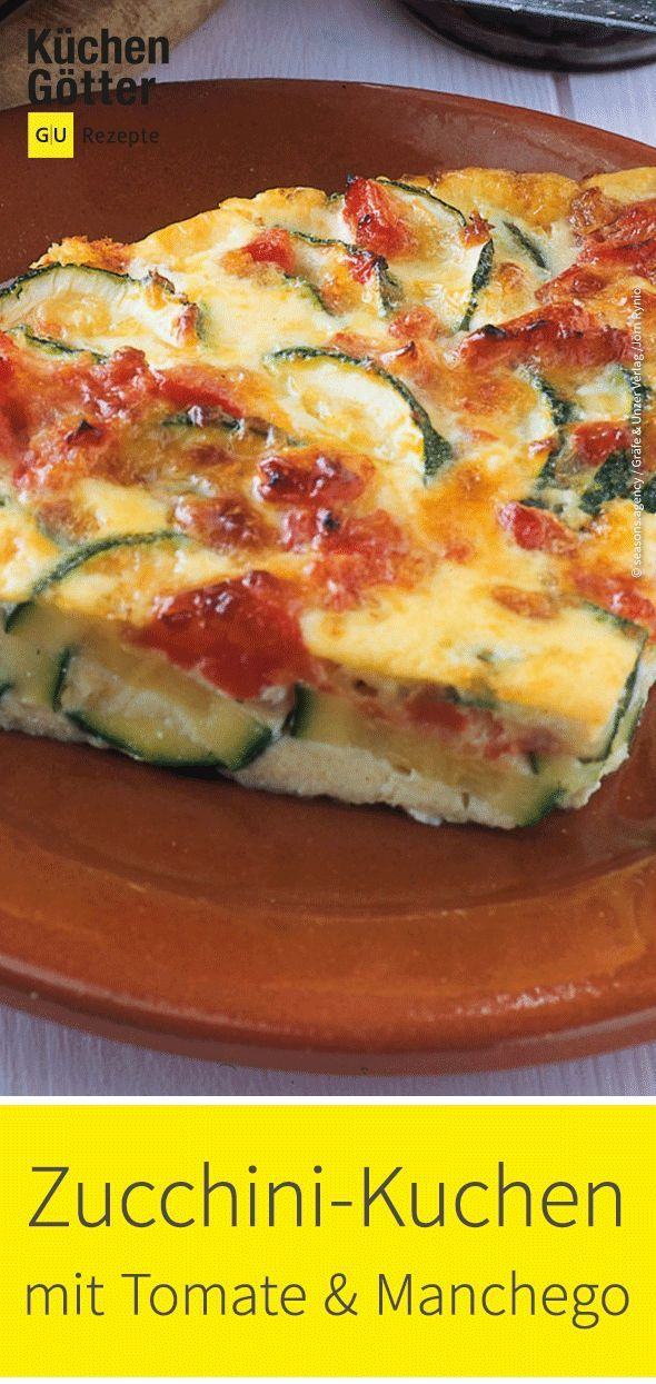 Photo of Zucchini cake with tomatoes and manchego