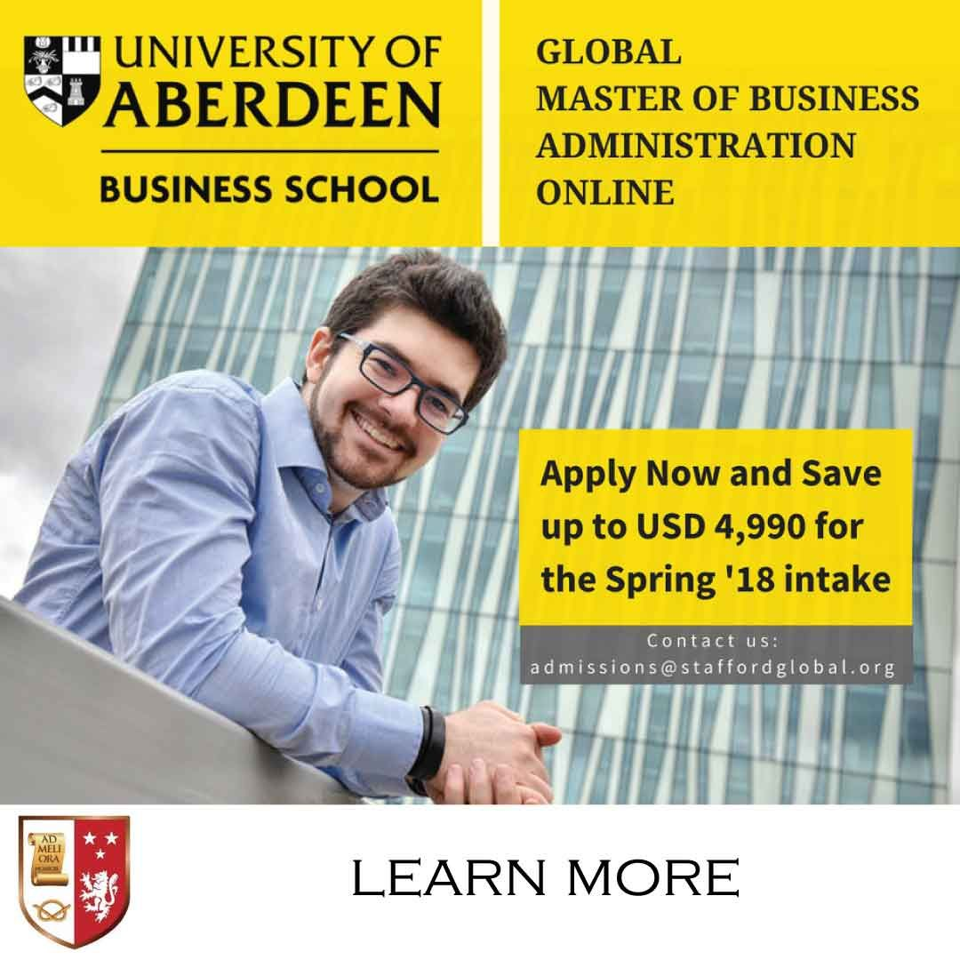 The Online Mba Global Programme From The University Of Aberdeen