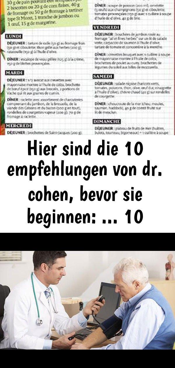 Hier sind die 10 empfehlungen von dr cohen bevor sie beginnen  10 Hier sind die 10 Empfehlungen von Dr Cohen bevor Sie beginnen  Bluthochdruck Ab 13080 mit der Therapie b...