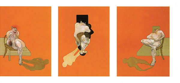 Francis Bacon - Triptych 1983, 1984 Lithograph, Image:  26 x 19 1/2 inches, Sheet:  35 x 24 1/2 inches